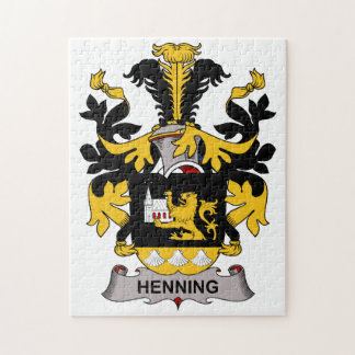 Henning Family Crest Jigsaw Puzzle