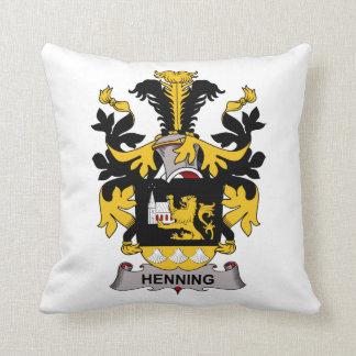 Henning Family Crest Throw Pillow