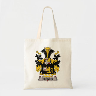 Henning Family Crest Tote Bags