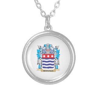 Hennings Coat of Arms - Family Crest Silver Plated Necklace