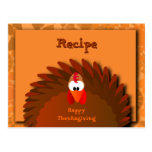 Henny Thanksgiving Recipe Card Postcard