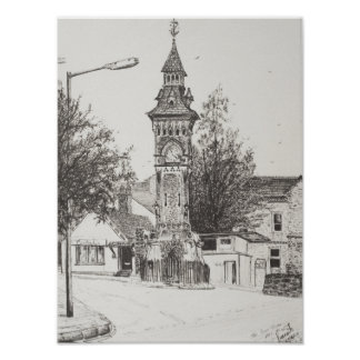 Heno de la torre de reloj en la horqueta 2007 póster