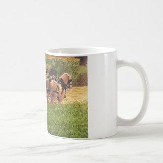 Heno del corte tazas de café