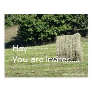 Heno-le invitan….personalizar postales