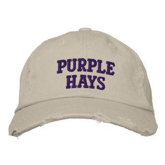 heno púrpura gorras bordadas