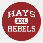 Heno - rebeldes - High School secundaria del heno Pegatinas Redondas