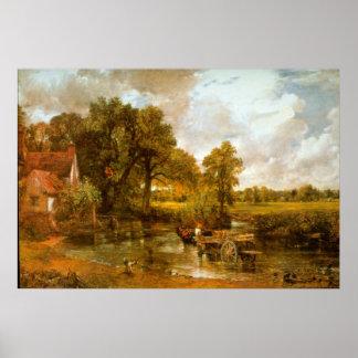 Heno Wain de John Constable Póster