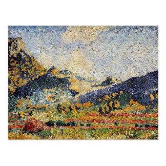 Henri Cross- Les Petits Montagnes Mauresques Postcard
