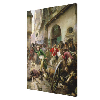 Henri de La Rochejaquelein  at Battle of Canvas Print