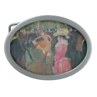 Henri de -Lautrec- At the Rouge, The Dance Oval Belt Buckles