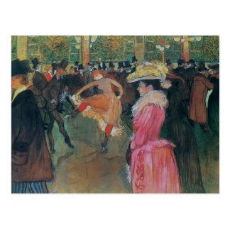 Henri de -Lautrec- At the Rouge, The Dance Postcard