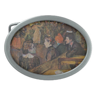 Henri de Lautrec- Ball at the Moulin de la Galette Oval Belt Buckle
