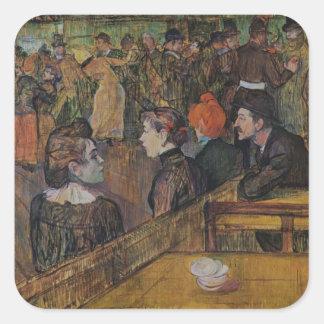 Henri de Lautrec- Ball at the Moulin de la Galette Sticker