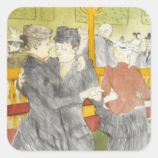 Henri de Lautrec- Dancing at the Rouge Sticker