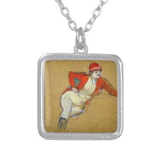 Henri de Lautrec- La Macarona in Riding Habit Personalized Necklace