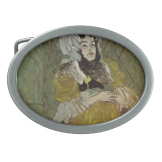 Henri de Lautrec- Portrait of Miss May Belfort Belt Buckle