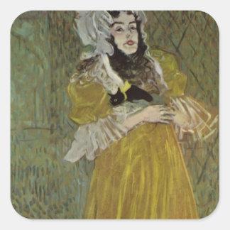 Henri de Lautrec- Portrait of Miss May Belfort Stickers