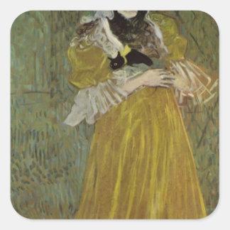 Henri de Lautrec- Portrait of Miss May Belfort Square Sticker