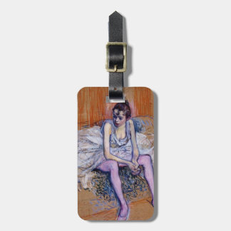 Henri de Lautrec- Seated Dancer in Pink Tights Tag For Bags