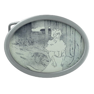 Henri de Lautrec- The Chatelaine (The Tocsin) Oval Belt Buckle
