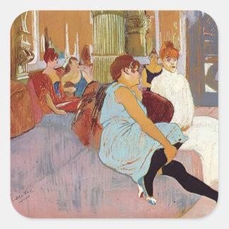 Henri de Lautrec: The Salon in the Rue des Moulins Stickers