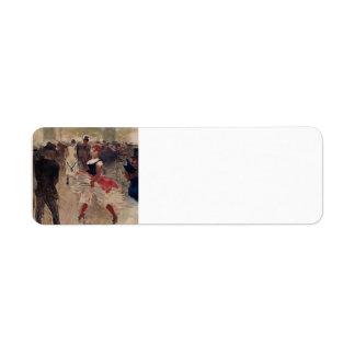 Henri de Toulouse-Lautrec- A l Elysee Montmartre Return Address Labels