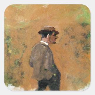 Henri de Toulouse-Lautrec  aged 19, 1883 Square Sticker