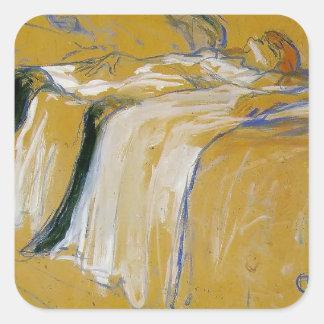 Henri de Toulouse-Lautrec- Alone (Elles) Square Sticker