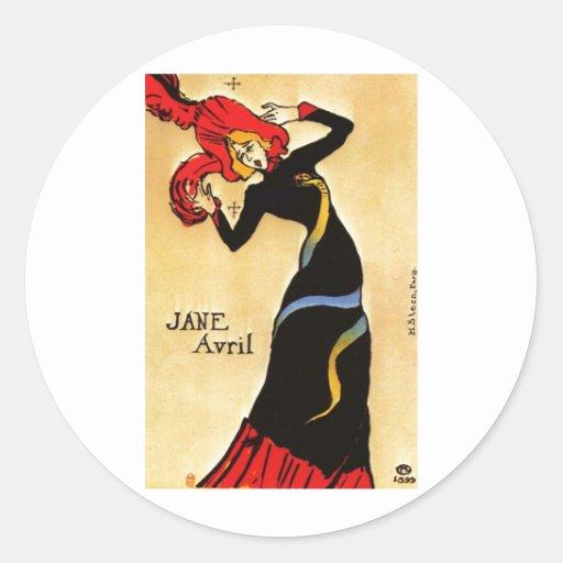 Henri de Toulouse-Lautrec Classic Round Sticker