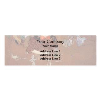 Henri de Toulouse-Lautrec- Dinner Business Cards