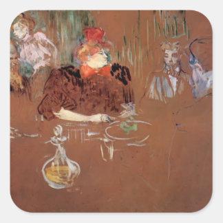 Henri de Toulouse-Lautrec- Dinner Square Sticker