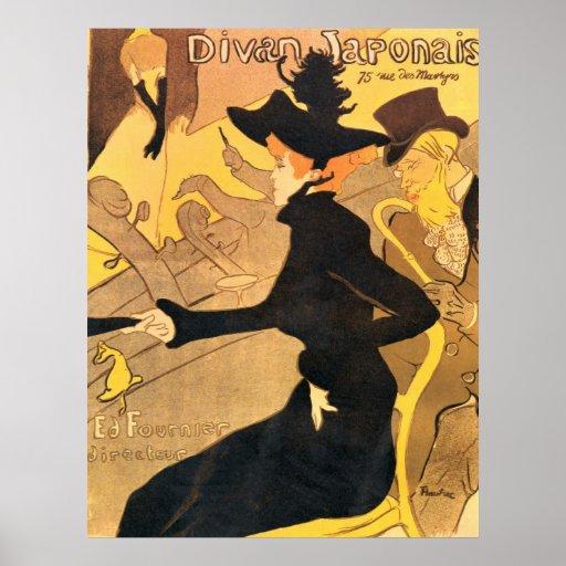 Henri de toulouse lautrec divan japonais poster zazzle for Divan japonais toulouse lautrec