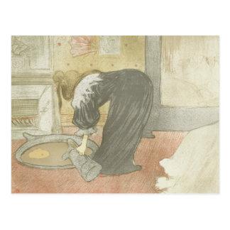 Henri de Toulouse-Lautrec - Elles - Woman at Tub Postcard