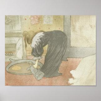 Henri de Toulouse-Lautrec - Elles - Woman at Tub Poster