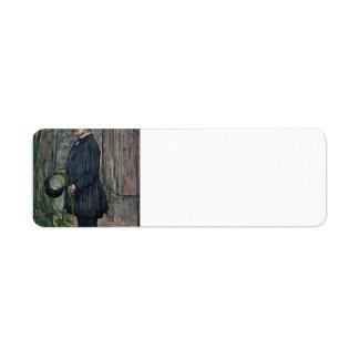 Henri de Toulouse-Lautrec- Henri Dihau Return Address Label