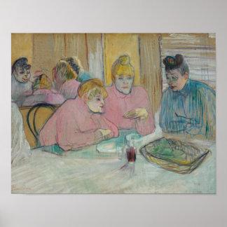 Henri de Toulouse-Lautrec - Ladies in Dining Room Poster