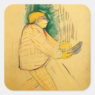 Henri de Toulouse-Lautrec- M. Praince Square Sticker