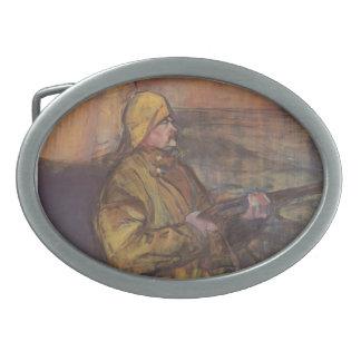 Henri de Toulouse-Lautrec-Maurice Joyant Somme bay Oval Belt Buckle