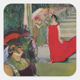 Henri de Toulouse-Lautrec- Messaline Square Stickers