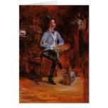 Henri de Toulouse-Lautrec-Princeteau in His Studio Greeting Card