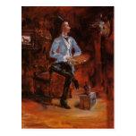 Henri de Toulouse-Lautrec-Princeteau in His Studio Post Card