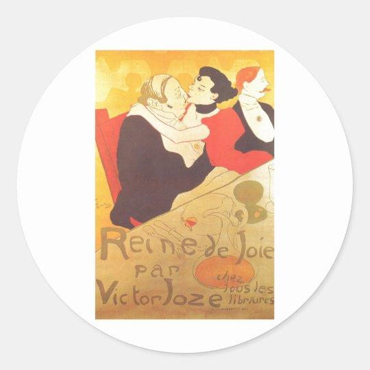 Henri de Toulouse-Lautrec Reine de Joie Classic Round Sticker
