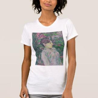 Henri de Toulouse-Lautrec- Seated Woman in  Garden Tshirt