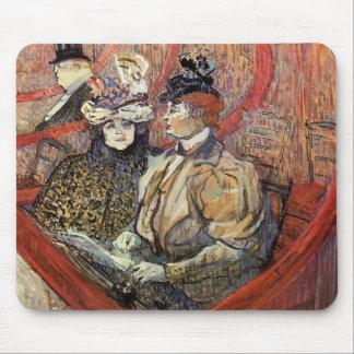Henri de Toulouse-Lautrec- The Grand Tier Mouse Pad