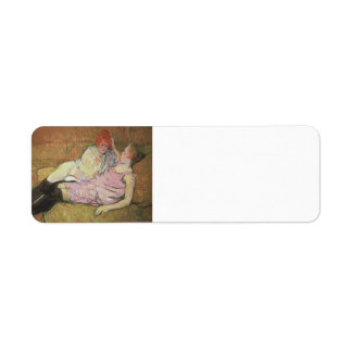 Henri de Toulouse-Lautrec- The Sofa Custom Return Address Labels