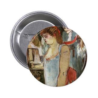 Henri de Toulouse-Lautrec- The Tatooed Woman Pinback Button
