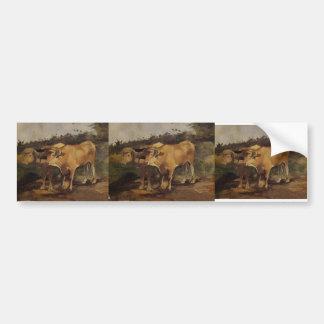 Henri de Toulouse-Lautrec-Two Bulls Wearing a Yoke Bumper Stickers