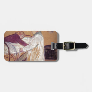 Henri de Toulouse-Lautrec-Two Women Making the Bed Tag For Bags