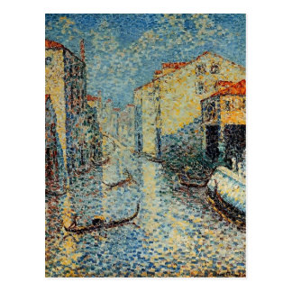 Henri-Edmond Cross- A Venetian Canal Postcard