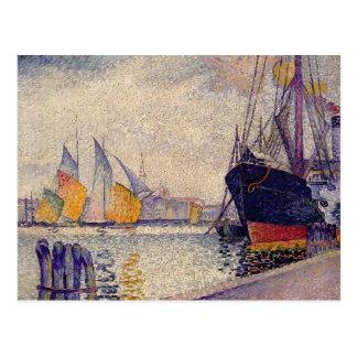 Henri-Edmond Cross- Canal de la Guidecca, Venice Postcard